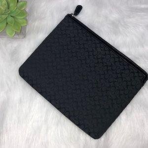 Coach Logo Black padded iPad case